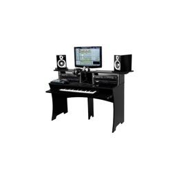 Glorious DJ-Workbench för hemmabruk/studios, svart